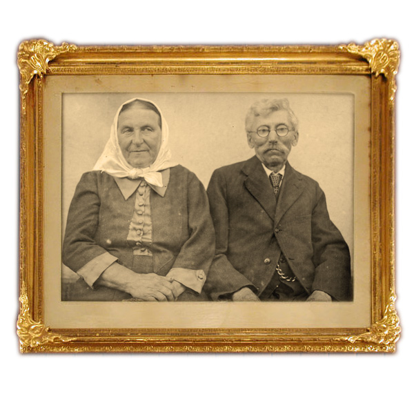 Stará fotografie v rámu